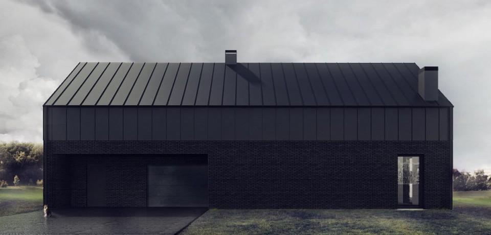czarny dom front