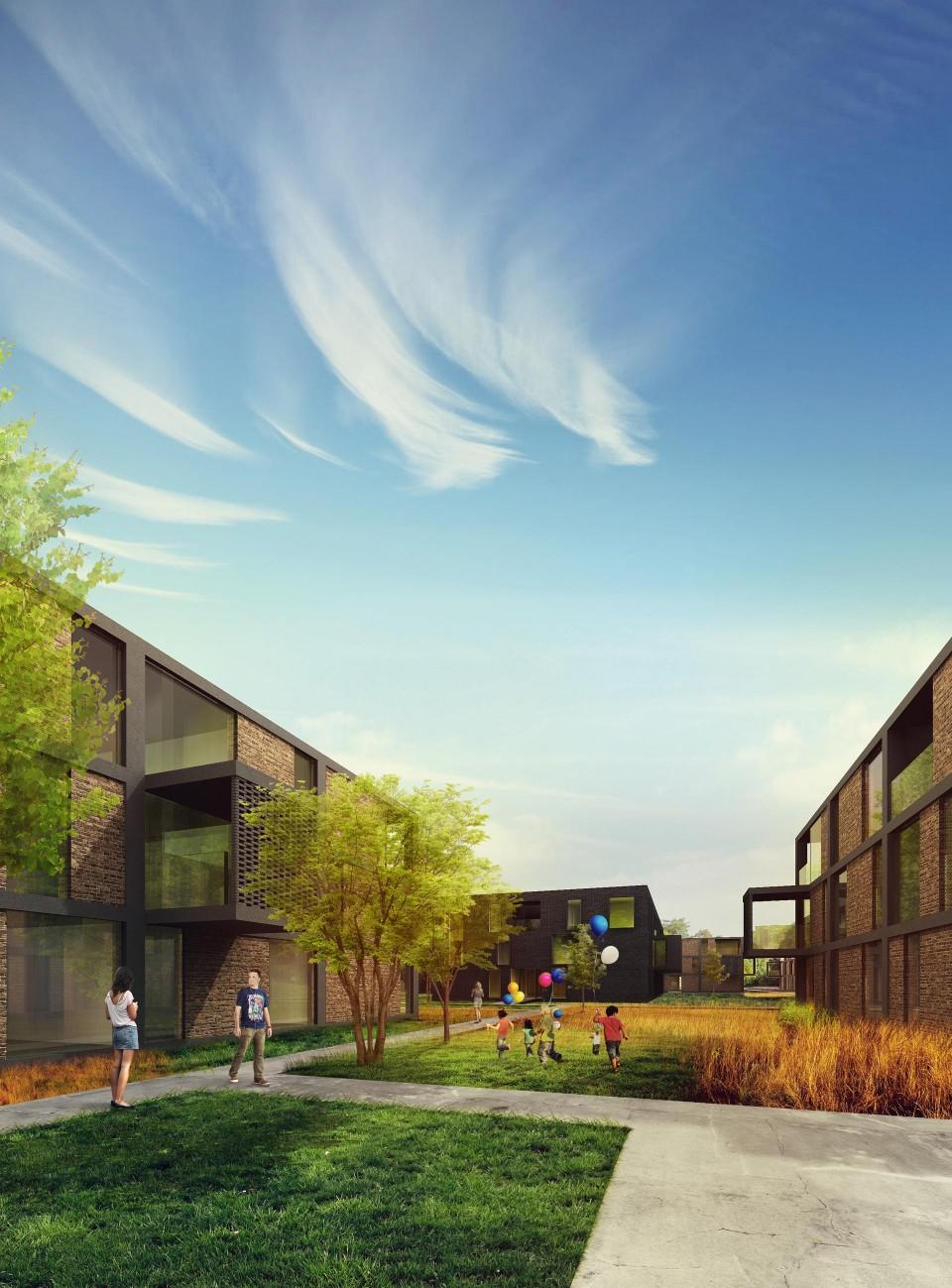 Osiedle mieszkaniowe wizualizacja