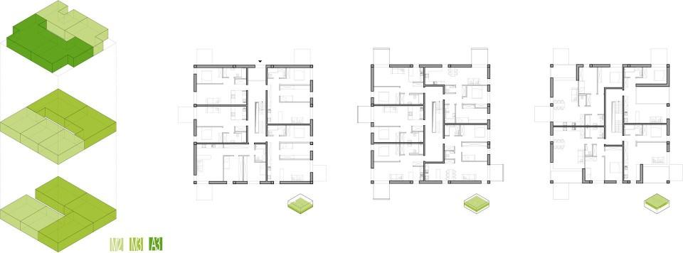 Osiedle mieszkaniowe rzuty