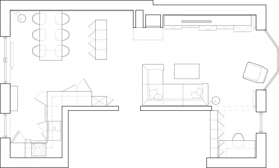 mieszkanie czarne rzut