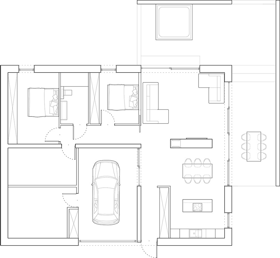 081-architekci-projekt-dom-nad-jeziorem-krasne-rzut